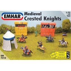 Medieval crested knights.
