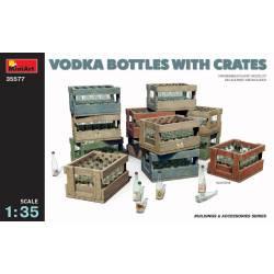 Vodka bottles and crates.