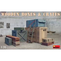 Wooden boxes and crates.