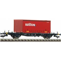 Vagón portacontenedors Lgjs598, DB AG.