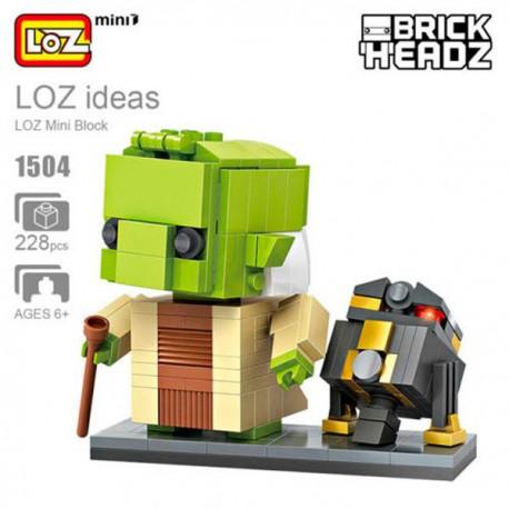 Brick Headz: Darth Vader and Yoda.