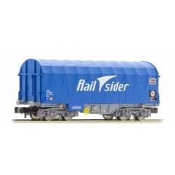 Sliding tarpaulin wagon Shimms, RailSider