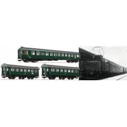 """Set de coches """"Murnau-Oberammergau"""", DB."""