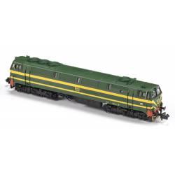Diesel locomotive 333-046, RENFE. Sound.