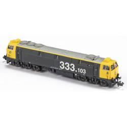 Locomotora 333-103, RENFE. Sonido.