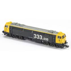 Locomotora 333-035, RENFE. Sonido.