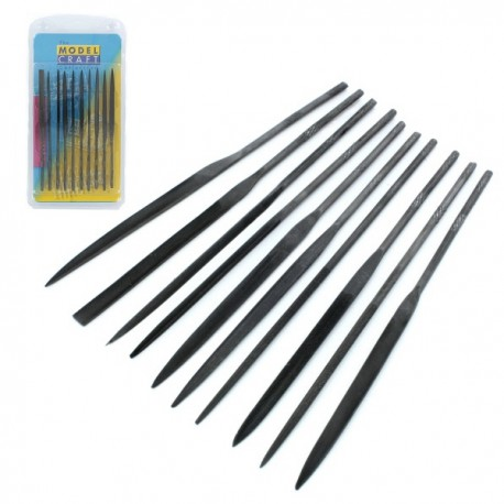 10 Piece Needle File Set. MODELCRAFT PFL6001