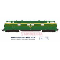 Diesel locomotive 4008, RENFE. Sound.