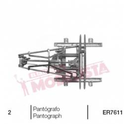Single arm pantograph, RENFE type.