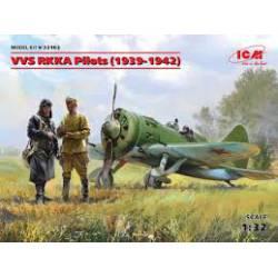 Pilotos de la RKKA soviética.