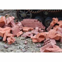 Escombros de ladrillos.