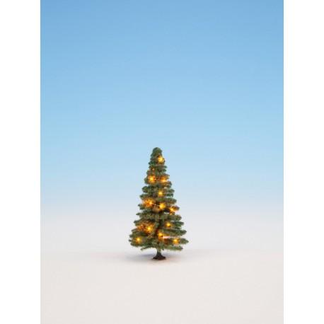 Árbol de Navidad iluminado.