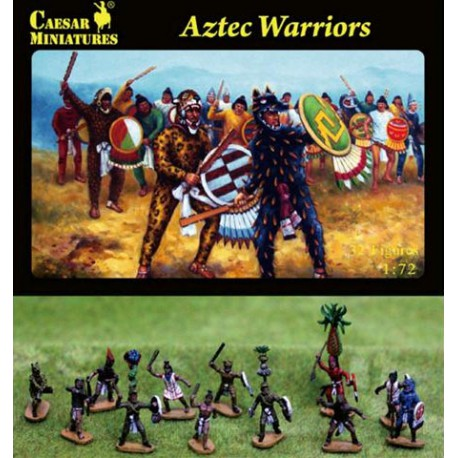 Guerreros aztecas.
