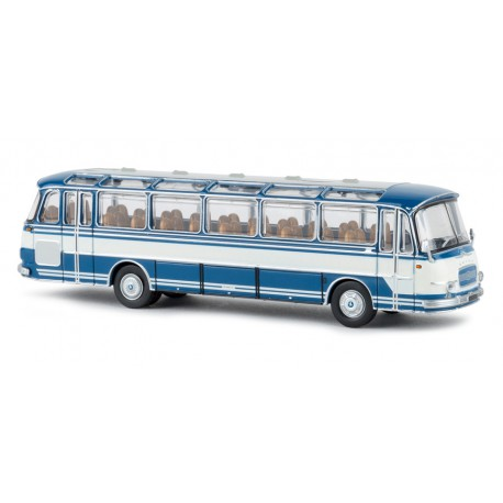 Autobus Setra S 12, azul/blanco.