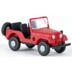 Jeep, rojo.