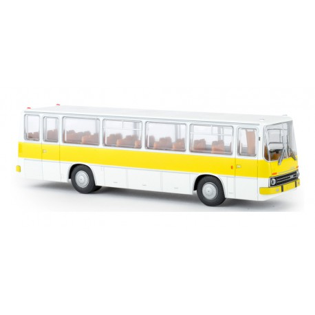 Autobus Ikarus 255, amarillo/blanco.