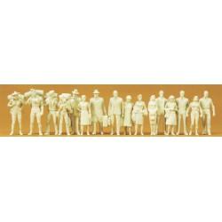 Figuras: Viajeros sin pintar.