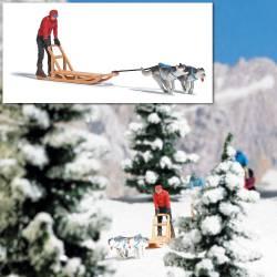 Dog sledge.