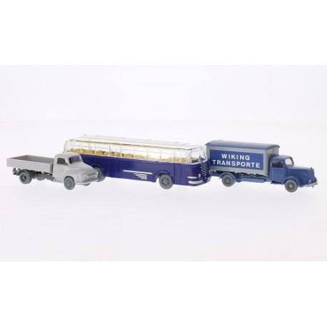 Transport set. MB 5000, Ford 2500, Trambus.