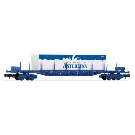 "Flat wagon Rgs ""Central Lechera"", RENFE."