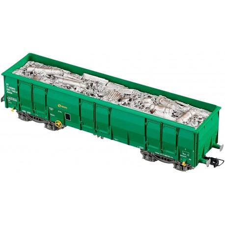 Vagón Ealos con chatarra, RENFE. ELECTROTREN 5387