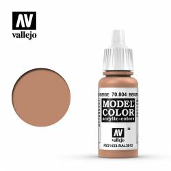 Rojo beige 17 ml, #36. VALLEJO 70804