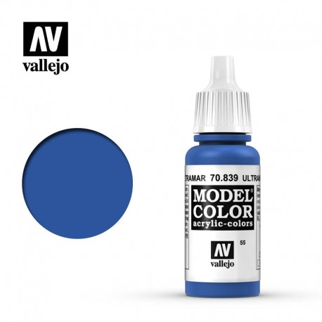 Azul ultramar 17 ml, #55. VALLEJO 70839