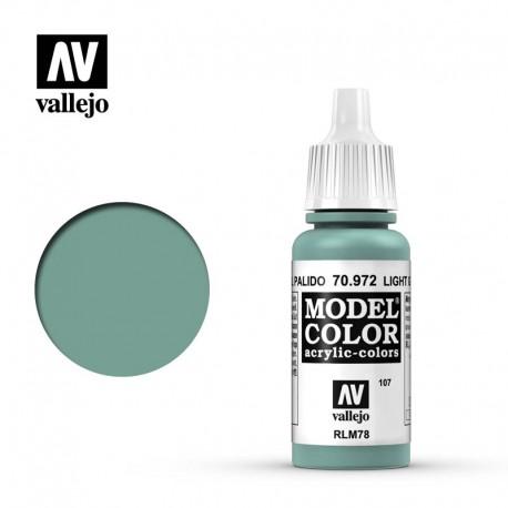 Verde azul pálido 17 ml, #107. VALLEJO 70972