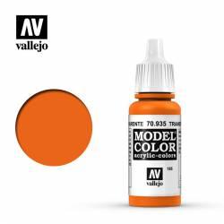Transparent orange 17 ml, #185. VALLEJO 70935