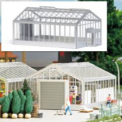 Clear plastic plant tunnels.