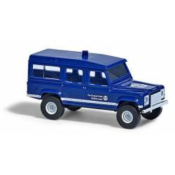 Land Rover, azul.
