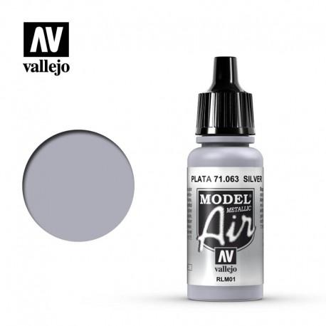 Silver (Metallic) 17 ml. VALLEJO 71063