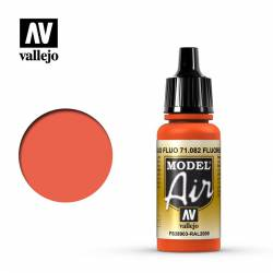 Rojo Fluorescente 17 ml. VALLEJO 71082