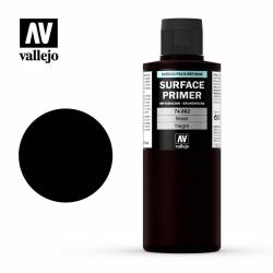 Surface acrylic-poliurethan, black. 200 ml. VALLEJO 74602