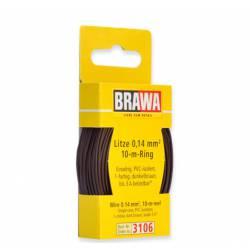 Wire 0,14 mm², dark brown.