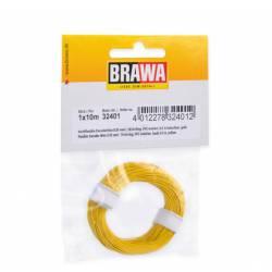 Cable de 0,4 mm (0,05mm²) . Blanco.