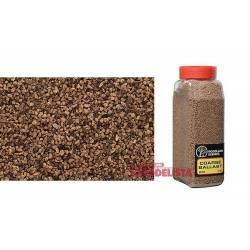 Balasto o grava color marrón, grueso. WOODLAND SCENICS B1386