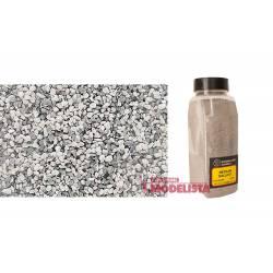 Balasto o grava color gris, medio. WOODLAND SCENICS B1394