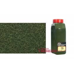 Bote de flocado fino verde hierba.
