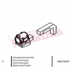 "Main head light for 141F-2410 ""Mikado"", RENFE."