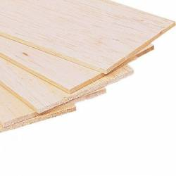 Balsa wood, 1 mm.