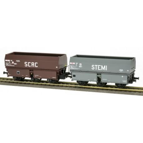 """Set de tolvas de carbón """"ACAC/STEMI"""", SNCF."""