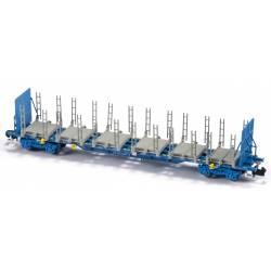 Log carrier wagon, COMSA.