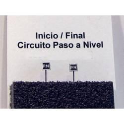 Cartelón inicio/final circuito paso a nivel. PARVUS 213514