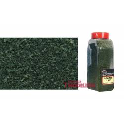 Coarse turf dark green.