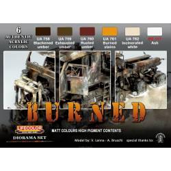 """Set """"Material quemado""""."""