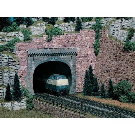 Tunnel portal, double track, 2 pcs.