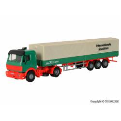 DAF truck with box body semi-trailer.