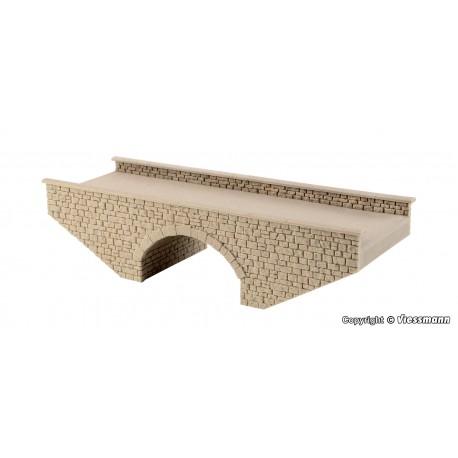 Stone arched bridge.