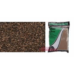 Bolsa de balasto o grava color marrón, fino.
